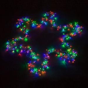 Vianočné LED osvetlenie 60 m - farebné