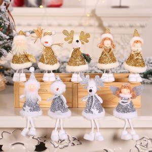 Vianočné postavičky s flitrami Varianta: 4, Farba: strieborná
