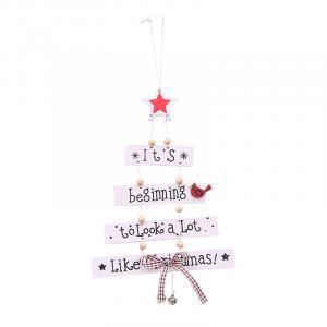 Vianočný stromček drevený Farba: biela