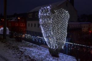 Vianočný svetelný záves s LED diódami - 1,2 x 1,9 m, studená biela