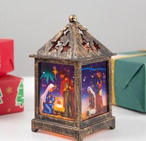 Vianočný svietiaci lampáš Varianta: 2