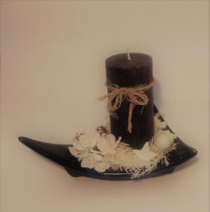 vianočný svietnik black elegance 21 x 16 cm