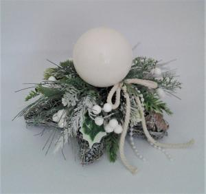 vianočný svietnik hviezda 26 x 20 cm