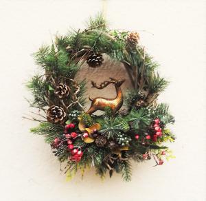 vianočný veniec s jeleňom 40 cm
