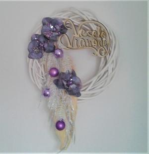 vianočný veniec s orchideou 30 cm