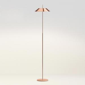 Vibia Vibia Mayfair – stojaca LED lampa, meď, lesklá