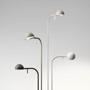 Vibia Vibia Pin 1660 stojaca LED lampa, 125cm, krémová