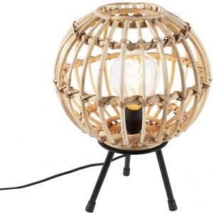 Vidiecka stolná lampa bambus 30 cm - Canna