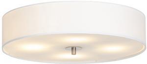 Vidiecka stropná lampa biela 50 cm - bubon