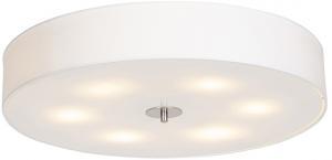 Vidiecka stropná lampa biela 70 cm - bubon