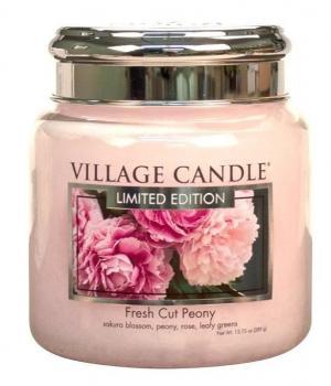 VILLAGE CANDLE Sviečka Village Candle - Fresh Cut Peony 389g
