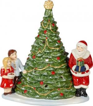 Villeroy & Boch Christmas Toys svietnik, Santa Claus pri stromčeku, 23 cm