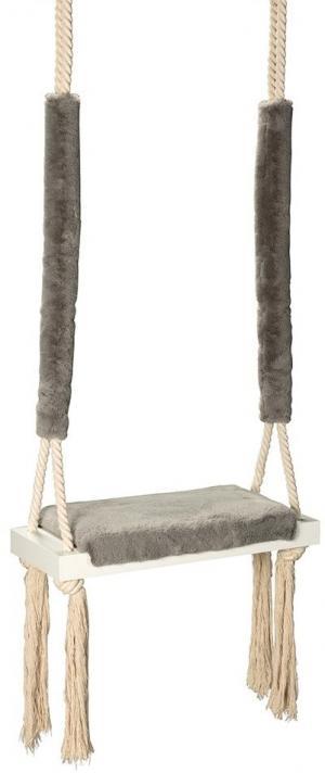 Vintage drevená hojdačka - Bunny grey