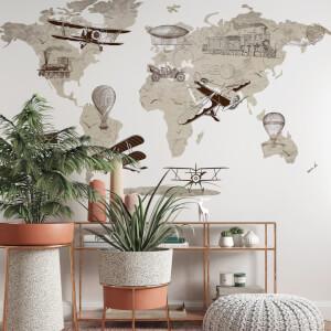 Vintage mapa sveta