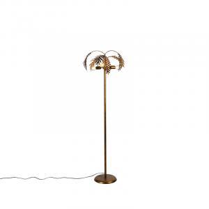Vintage stojaca lampa zlatá 3-svetlá - Botanica