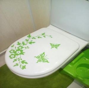 Vinylová samolepka do kúpeľne s kvetinovým motívom - 5 farieb Farba: zelená