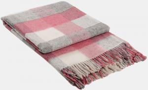 Vlnená deka Palermo ružová