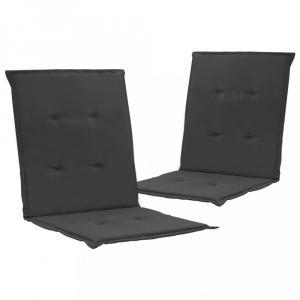 Vodeodolné podušky na záhradné stoličky 2 ks Dekorhome Antracit