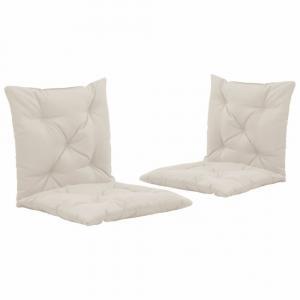 Vodeodolné podušky na záhradné stoličky 2 ks Dekorhome Krémová