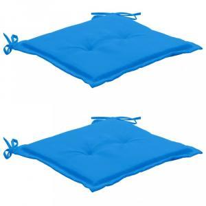 Vodeodolné podušky na záhradné stoličky 2 ks Dekorhome Modrá