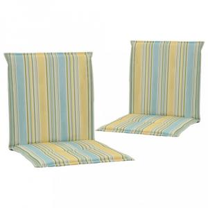 Vodeodolné podušky na záhradné stoličky 2 ks Dekorhome Viacfarebné