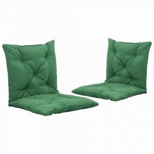 Vodeodolné podušky na záhradné stoličky 2 ks Dekorhome Zelená