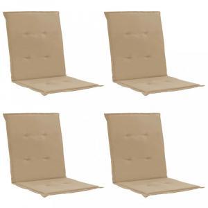 Vodeodolné podušky na záhradné stoličky 4 ks Dekorhome Béžová
