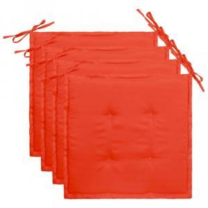 Vodeodolné podušky na záhradné stoličky 4 ks Dekorhome Červená