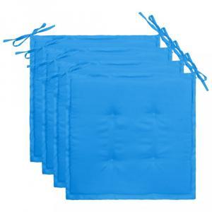 Vodeodolné podušky na záhradné stoličky 4 ks Dekorhome Modrá