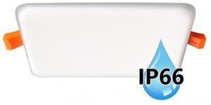 Vodeodolný zapustený LED panel IP66 do kúpeľne 22W