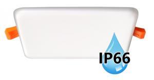 Vodeodolný zapustený LED panel IP66 do kúpeľne 6W