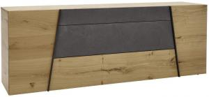 Voglauer KOMODA SIDEBOARD, divý dub, sivá, farby dubu, 224,2/82/51,6 cm - sivá, farby dubu