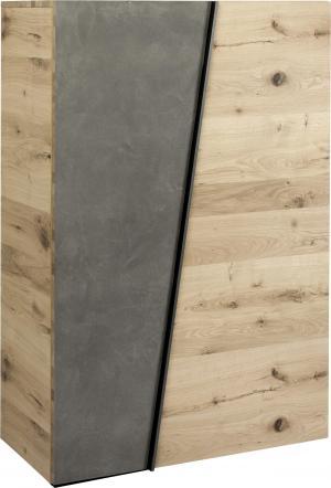 Voglauer SKRINKA NA TOPÁNKY, sivá, farby dubu, divý dub, 96,2/138/42,3 cm - sivá, farby dubu