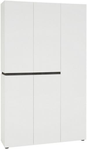 Voleo SKRINKA NA TOPÁNKY, antracitová, biela, 120,2/200/34 cm - antracitová, biela