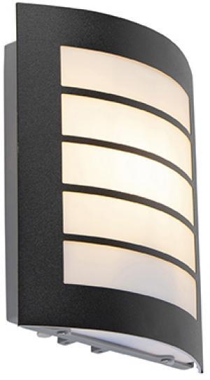 Vonkajšie nástenné svietidlo čierne IP44 so senzorom svetlo-tma - Miro