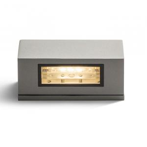 Vonkajšie nástenné svietidlo RENDL WOOP striebornosivá R10438