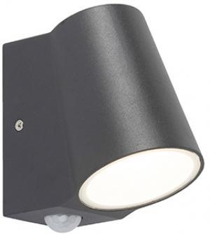 Vonkajšie svietidlo antracitové so snímačom pohybu vrátane LED - Uma