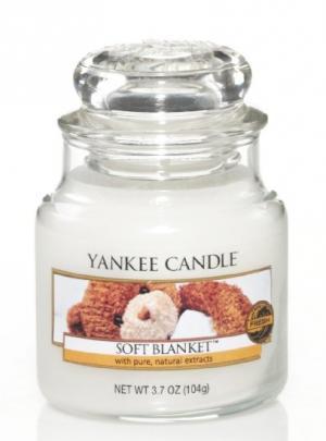 Vonná sviečka Yankee Candle - Soft blanket Veľkosť sviečky: Malá