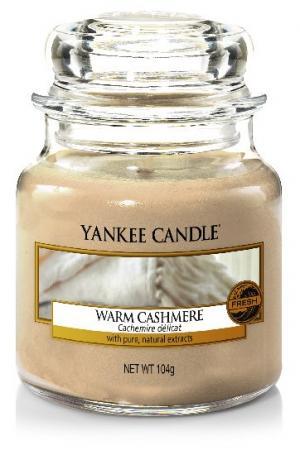 Vonná sviečka Yankee Candle - Warm cashmere Veľkosť sviečky: Malá