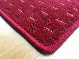 Vopi koberce AKCE: 600x150 cm s obšitím Běhoun na míru Valencia červená - šíře 150 cm s obšitím