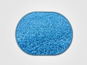 Vopi koberce Kusový koberec Color shaggy modrý ovál - 200x300 cm