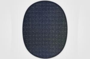 Vopi koberce Kusový koberec Udinese antracit ovál - 140x200 cm
