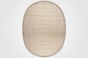 Vopi koberce Kusový koberec Udinese béžový ovál - 80x120 cm