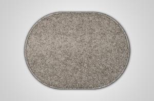 Vopi koberce Kusový šedý koberec Eton ovál - 80x150 cm