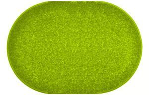 Vopi koberce Kusový zelený koberec Eton ovál - 50x80 cm