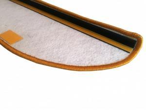 Vopi koberce Nášlapy na schody Modena zlatohnědá obdélník - 25x80 obdélník (rozměr včetně ohybu)