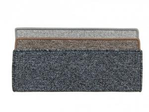 Vopi koberce Nášlapy na schody Porto hnědý obdélník - 25x80 obdélník (rozměr včetně ohybu)