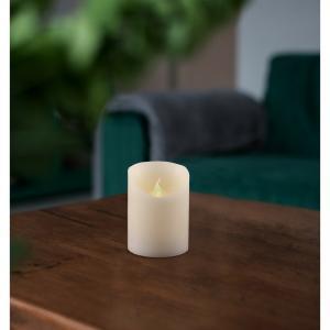 Vosková LED sviečka, 7,5 x 10 cm