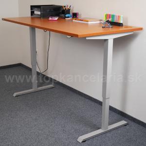 Výškovo nastaviteľné stoly EcoMotion 180 - 800 mm, Elektrický zdvih, 0, 1800 mm, Agát, 705 - 1205 mm