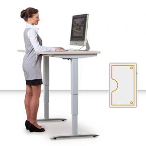 Výškovo nastaviteľné stoly Motion Ergo 3 - Elektrický zdvih, 1600 mm, 610 - 1280 mm, 900 mm, základný ovládač